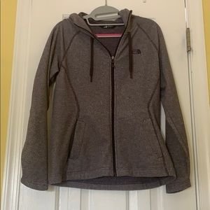 The North Face purple zippered hoodie